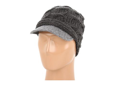 Palarii Echo Design - Cable Knit Hat w/ Wool Brim - Slate