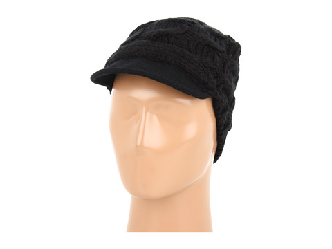 Palarii Echo Design - Cable Knit Hat w/ Wool Brim - Black