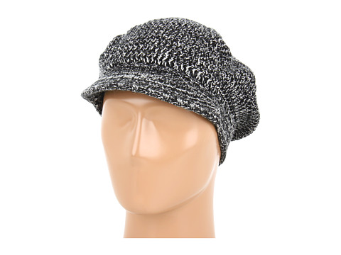 Palarii Echo Design - Marled Stitch Newsboy Hat - Black/Vanilla
