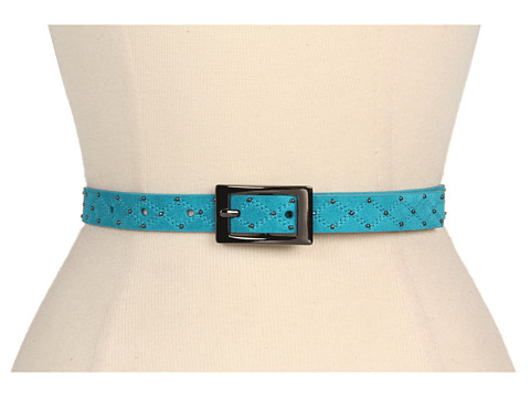 """Curele Jessica Simpson - 3/4\"""" Quilted Suede Panel - Teal"""