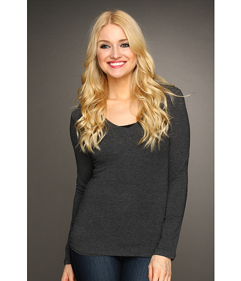 Tricouri Gabriella Rocha - Zana V-Neck Long Sleeve Top - Grey