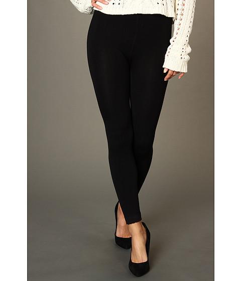 Pantaloni Anne Klein - Lace Cuff Fleece-Lined Legging - Black