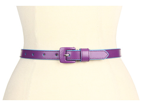 Curele Lodis Accessories - Audrey Covered Buckle Pant Belt - Grape