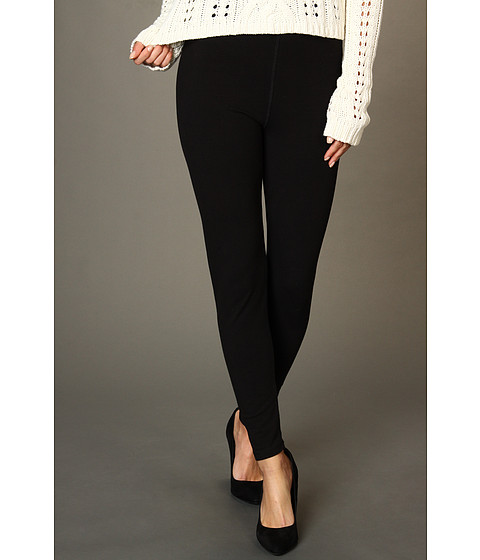 Pantaloni Anne Klein - Heavy Weight Cut & Sew Legging (2-Pair Pack) - Black/Heather Charcoal