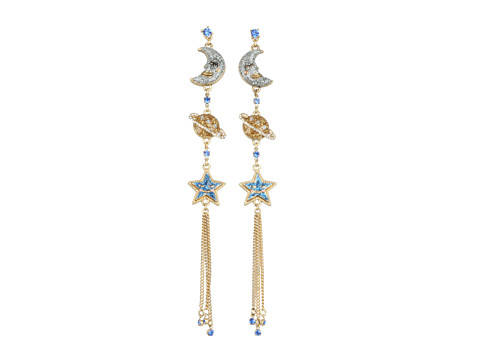 Bijuterii Betsey Johnson - Heaven\\\'s to Betsey Orbital Chain Linear Earrings - Blue