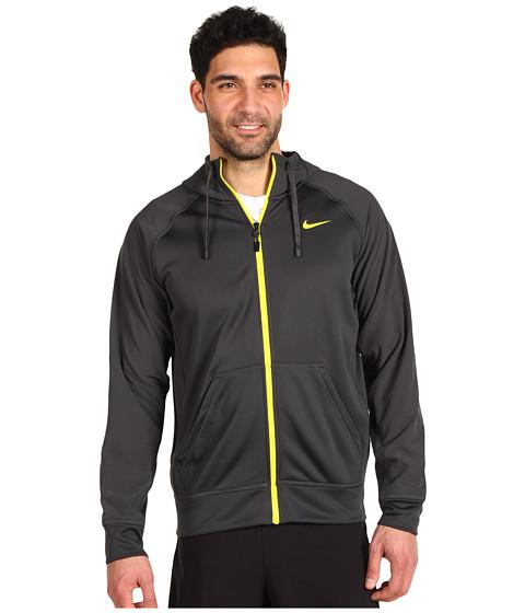 Bluze Nike - TKO Shield Full Zip Hoodie - Anthracite/Electrolime/Electrolime