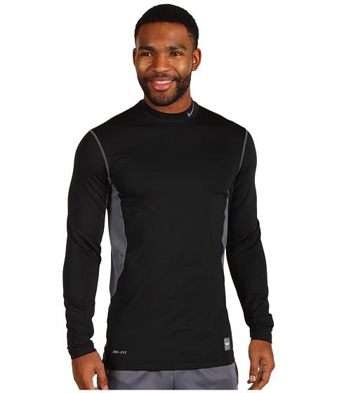 Bluze Nike - Hyperwarm Hydropull Fitted Mock - Black/Flint Grey/Flint Grey