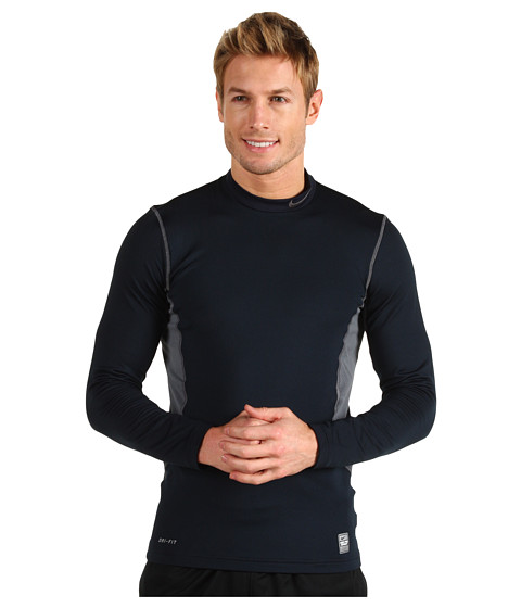 Bluze Nike - Hyperwarm Hydropull Fitted Mock - Dark Obsidian/Flint Grey/Flint Grey