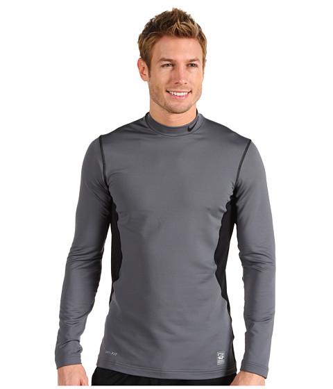 Bluze Nike - Hyperwarm Hydropull Fitted Mock - Flint Grey/Black/Black