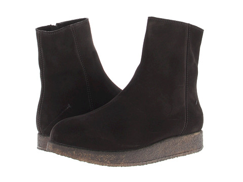 Ghete Costume National - Suede Zip Up Boot - Nero