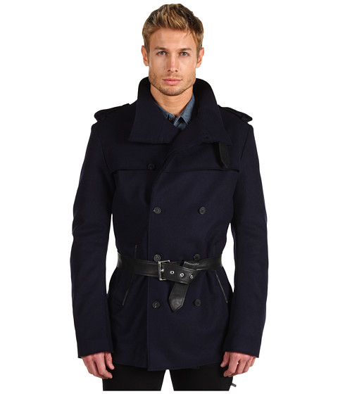 Jachete Costume National - Trench with Biker Back - Dark Navy