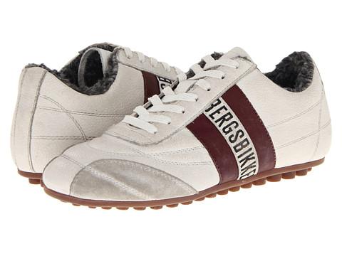 Adidasi Bikkembergs - BKE104895 - White/Bordoux Fur Leather/Leather