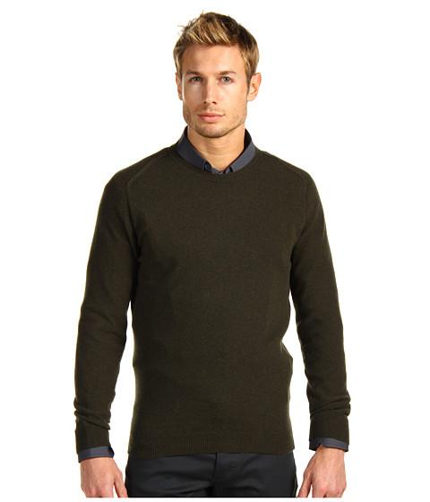 Bluze Costume National - Lambswool Round Neck Sweater - Dark Green