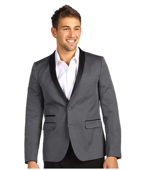 Sacouri Ben Sherman - Plectrum Iridescent Cotton Twill Tuxedo Blazer - Atmosphere Grey
