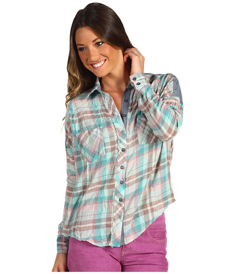 Bluze Free People - Fly Away Buttondown - Mint Combo