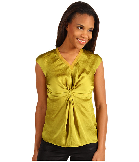 Bluze Kenneth Cole - Pleated Front Blouse - Lemongrass