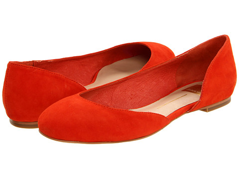 Balerini Dolce Vita - Laci - Orange Red Suede