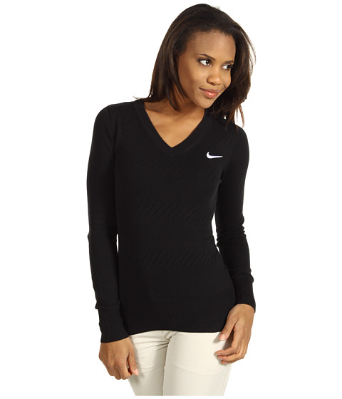 Bluze Nike - Knit Sweater - Black/Seaweed/White/White