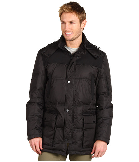 Jachete Cole Haan - Mixed Media Down Parka - Black