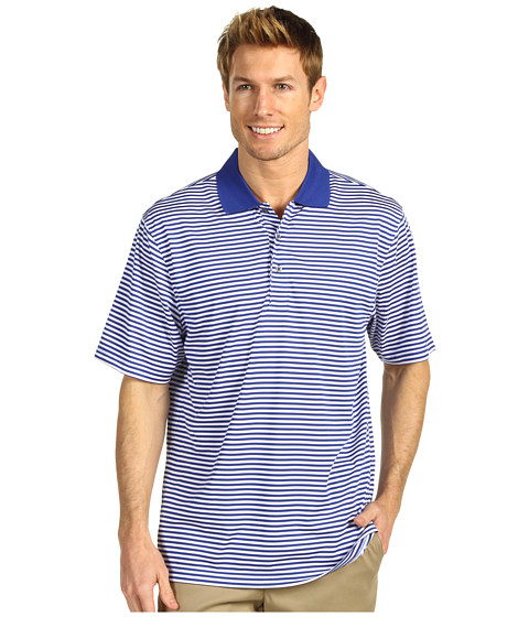 Tricouri IZOD - S/S Poly Yarn Dyed Stripe Polo - Cobalt Blue