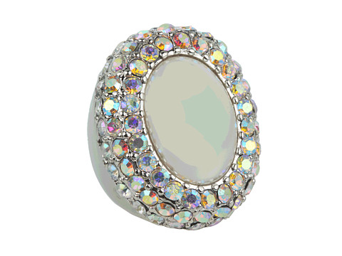 Bijuterii GUESS - Large Pearl With AB Stone Surround Ring - Silver/AB/White Pearl