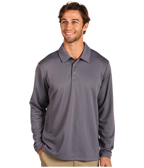 Bluze adidas Golf - ClimaliteÃ'® Warm Long Sleeve Textured Polo - Ash