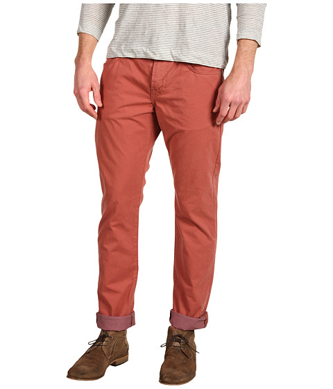 Pantaloni 7 For All Mankind - The Straight Colored Weft Twill - Carnelian Red