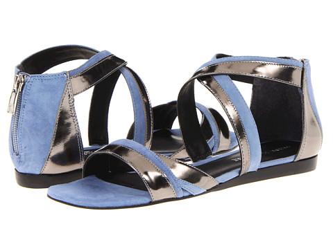 Sandale Pour La Victoire - Brienne - Pewter/Dusty Blue Mirror Kid Suede