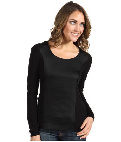 Tricouri Calvin Klein - Mixed Media Sweater - Black