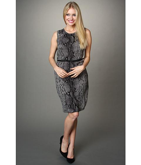 Rochii Calvin Klein - Snake Print Sheath Dress - Tin/Charcoal