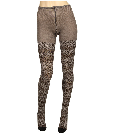 Lenjerie Missoni - Desideria Zigzag Stockings - Brown/Grey