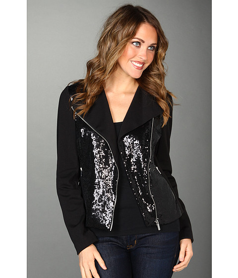 Sacouri Calvin Klein - Moto Sequin Jacket - Black