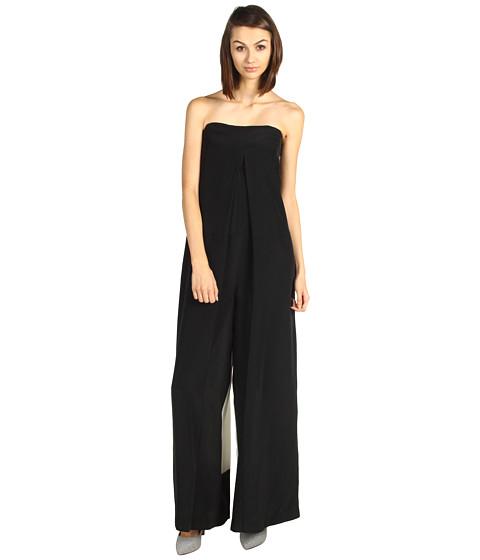 Pantaloni Tibi - Mila Silk Color Block Jumpsuit - Black/Ivory Multi