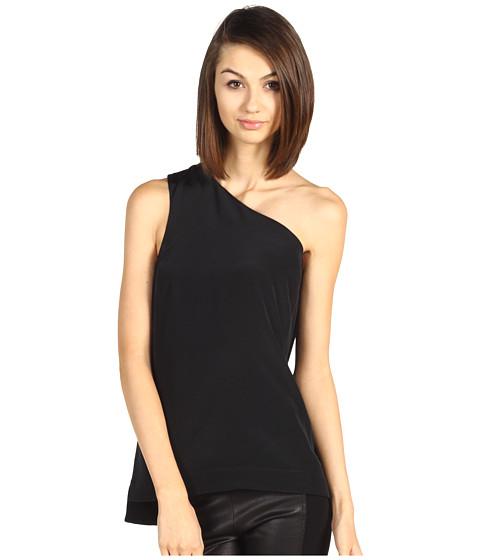 Bluze Tibi - Mila Silk One Shoulder Top - Black