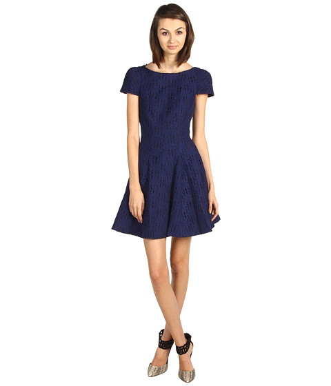 Rochii Tibi - Jules Lace C/S Dress - Navy