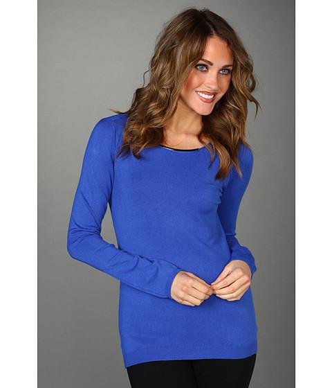 Tricouri Calvin Klein - L/S Sweater w/ Hardware - Vibrant Blue