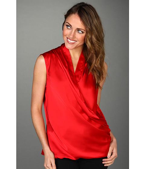 Tricouri Calvin Klein - Drape Front Top - Rouge