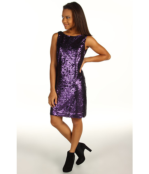 Rochii Jessica Howard - 1 Piece Sleeveless Sheath Dress With Drape Back - Eggplant