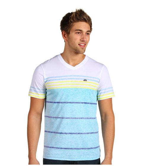 Tricouri ECKO - Slub With Printed Stripe - Bleach White