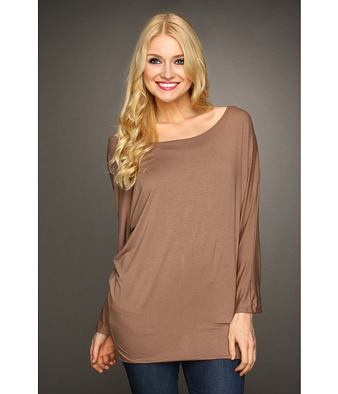 Bluze Christin Michaels - Bonny Synched Arm Top - Mocha