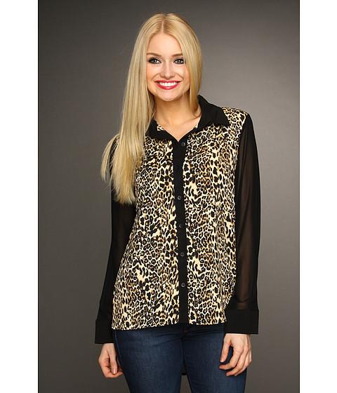 Bluze Christin Michaels - Shelah Cheetah Print Blouse - Black