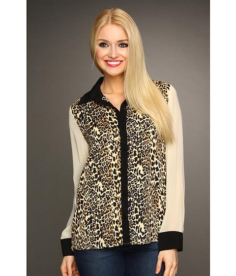 Bluze Christin Michaels - Shelah Cheetah Print Blouse - White