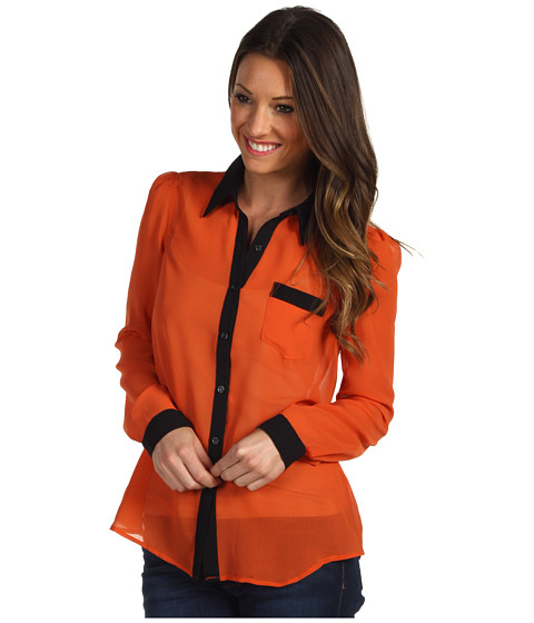 Bluze Christin Michaels - Wilma Chiffon Blouse - Orange