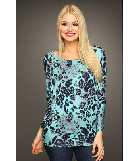 Bluze Christin Michaels - Rally Animal Print Top - Aqua