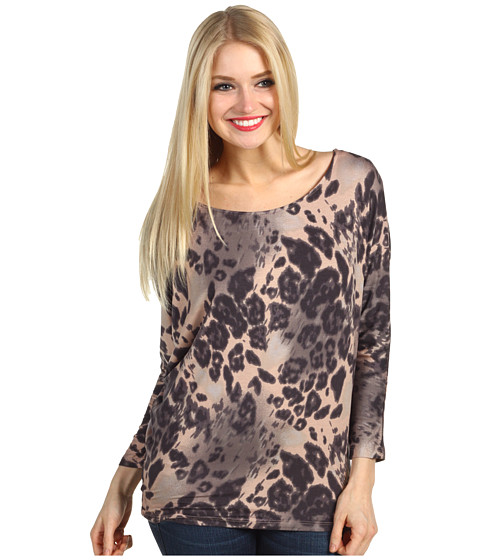 Bluze Christin Michaels - Rally Animal Print Top - Brown