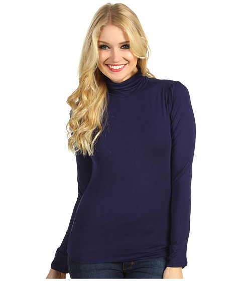 Bluze Christin Michaels - Hillary Long Sleeve Turtleneck - Navy