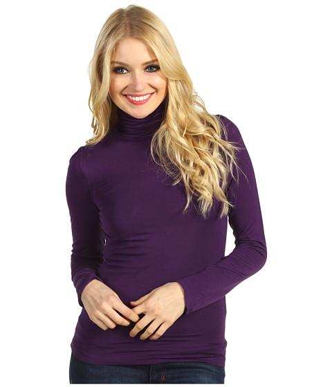 Tricouri Christin Michaels - Hillary Long Sleeve Turtleneck - Purple