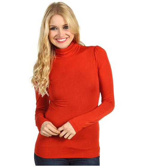 Bluze Christin Michaels - Hillary Long Sleeve Turtleneck - Rust