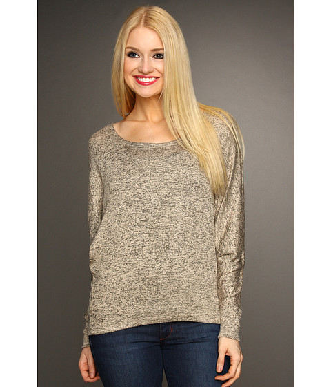 Tricouri Christin Michaels - Margery Long Sleeve Knit Top - Taupe