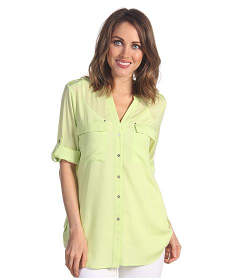 Tricouri Calvin Klein - Crew Neck Roll Sleeve Top - Key Lime
